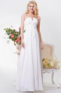 Sexy Neckline Backless A-line Long Chiffon Dress