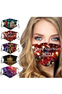 Non-medicial 5 Colors New Year Cotton Reusable Face Mask