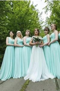 Sleeveless A-line Sweetheart Floor-length Chiffon Bridesmaid Dress with Criss Cross