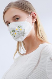 Non-Medical Embroidery Wedding Face Masks
