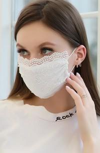 Non-Medical Pearl Lace Bridal Face Masks